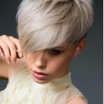 Blond platinat par scurt